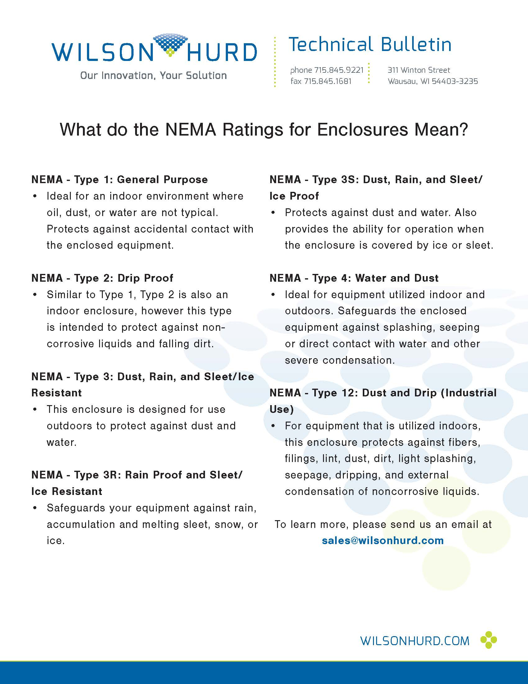 What do NEMA Ratings or Enclosures Mean