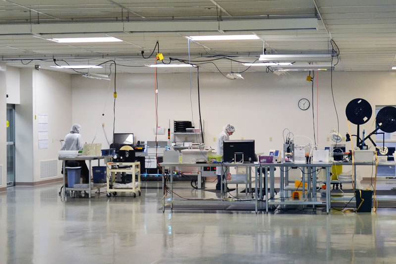 Advanced Technology Facility clean room capabilities used in production of medical devices.