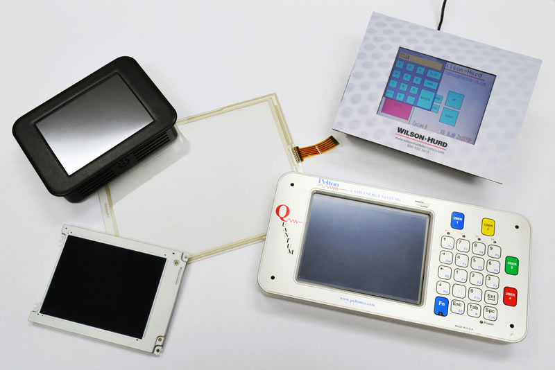 Variety of capacitive and resistive touchscreens.